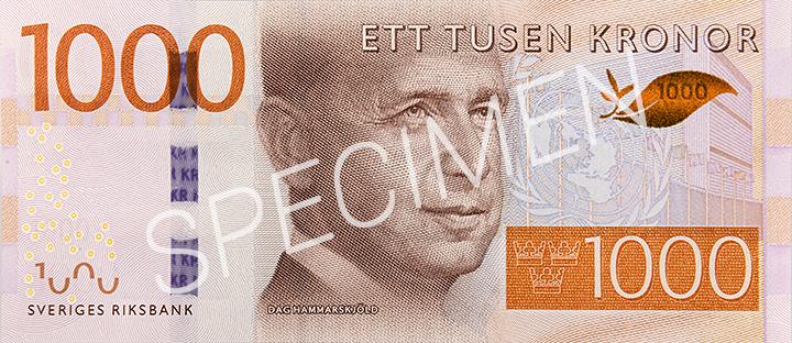 Geldschein 1000 SEK