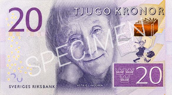 Geldschein 20 SEK