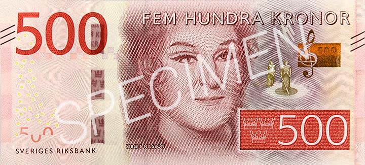 Geldschein 500 SEK