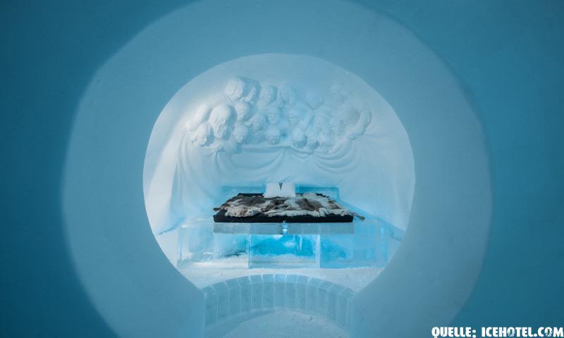 Eishotel (ICEHOTEL Jukkasjärvi) in Nordschweden