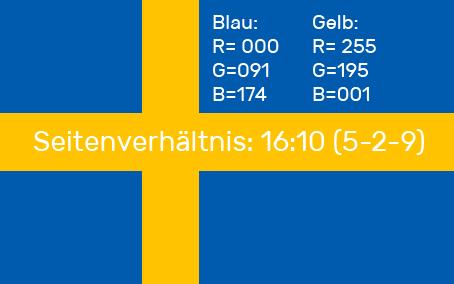 Schwedische Flagge Erklärung