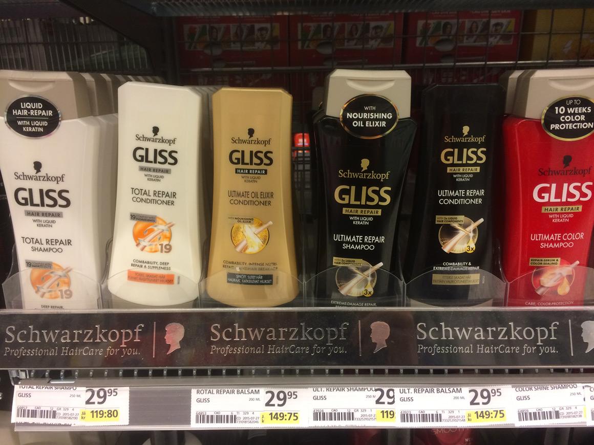 Haarpflegeprodukte in Schweden