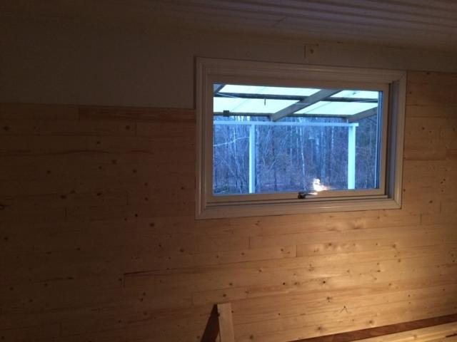 Holzvertäfelung im Ferienhaus