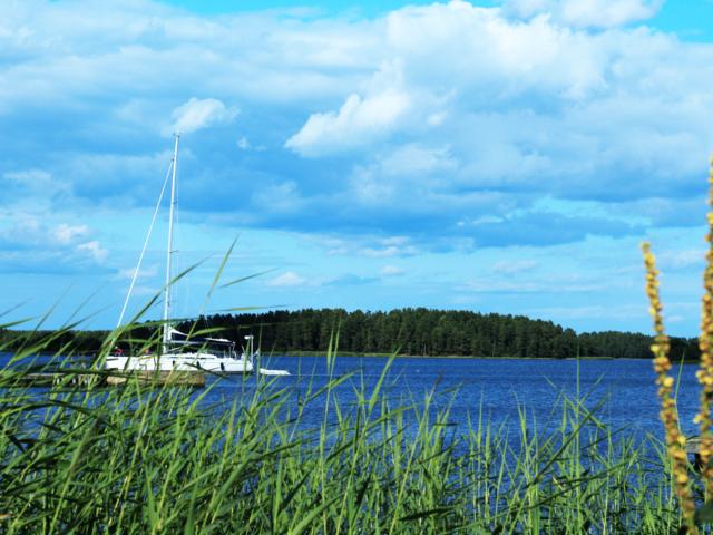 Schweden Boot auf dem Wasser