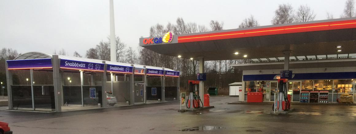 OK Q8 Tankstelle Schweden