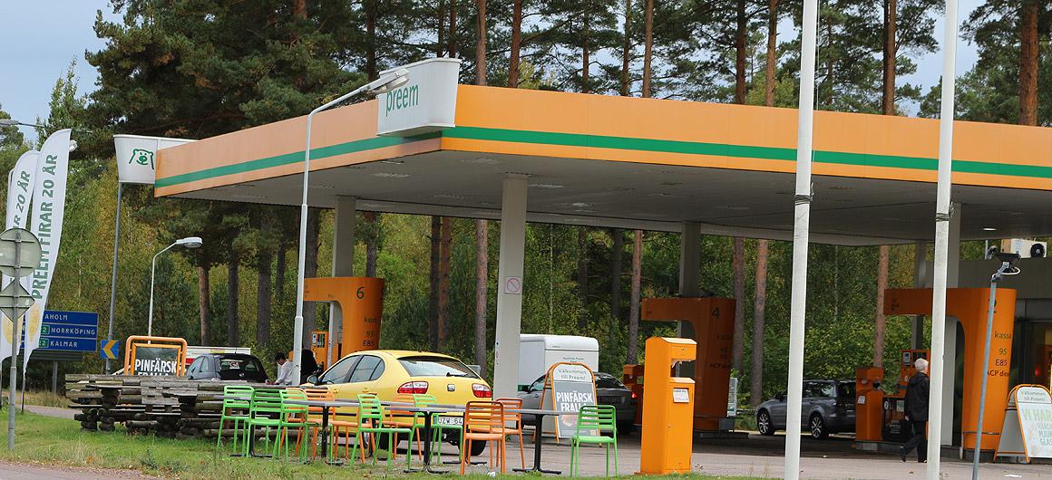 Tankstellen in Schweden